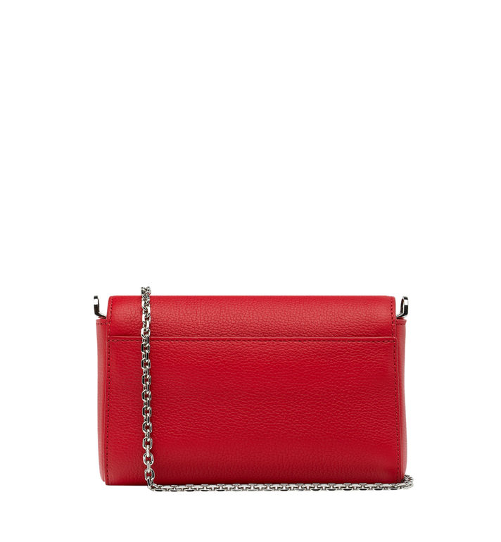 MCM Millie Flap Crossbody in Grained Leather Red MYZ9SME54RU001 Alternate View 4