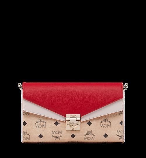 Millie Flap Crossbody in Visetos Leather Block
