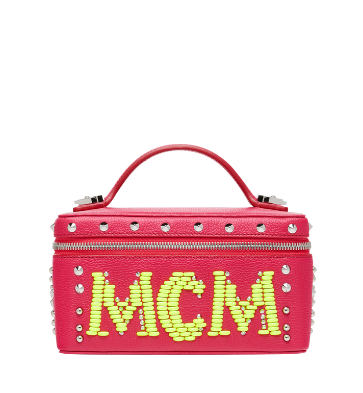 MCM Rockstar Vanity Case in Neon Stud Leather Alternate View