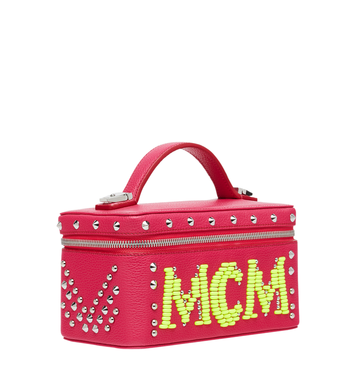 MCM Rockstar Vanity Case in Neon Stud Leather Alternate View 2