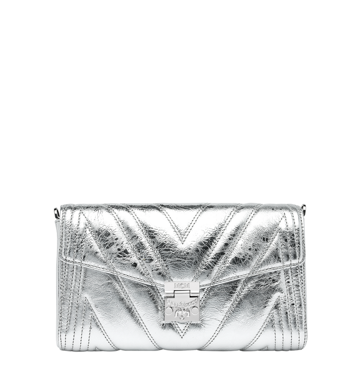 MCM Patricia Crossbody in Quilted Metallic Leather Alternate View