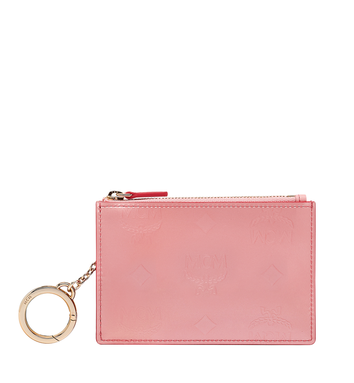 MCM Zip Key Wallet in Monogram Patent Leather Alternate View