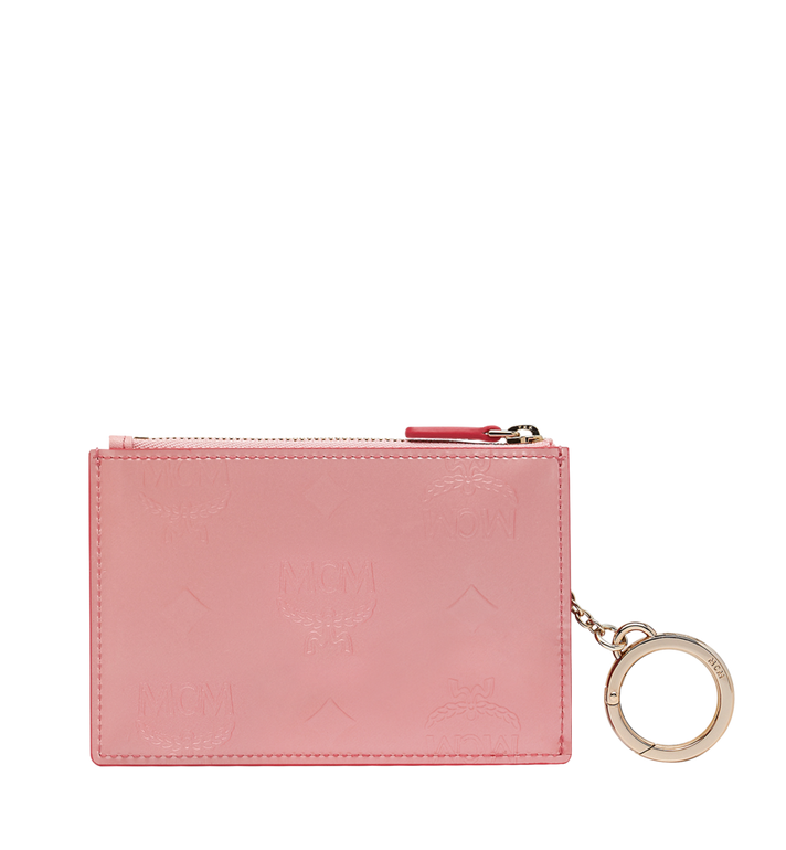 MCM Zip Key Wallet in Monogram Patent Leather Alternate View 3