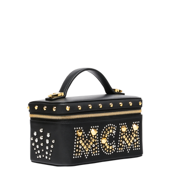 MCM Rockstar Vanity Case in Radial Stud Leather AlternateView2