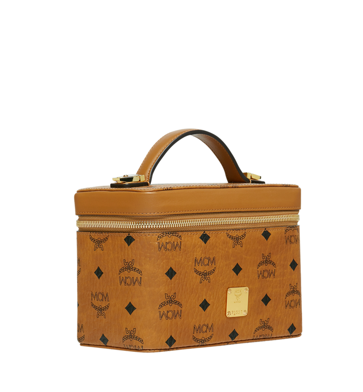 MCM Kosmetikkoffer Rockstar in Visetos Original Cognac MYZ9SVI95CO001 Alternate View 2