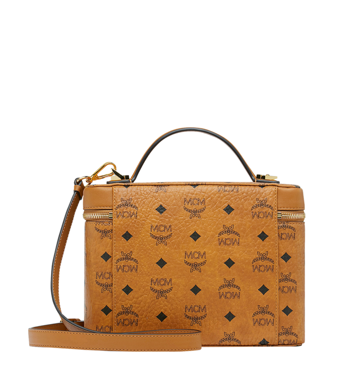 MCM Kosmetikkoffer Rockstar in Visetos Original Cognac MYZ9SVI96CO001 Alternate View 4