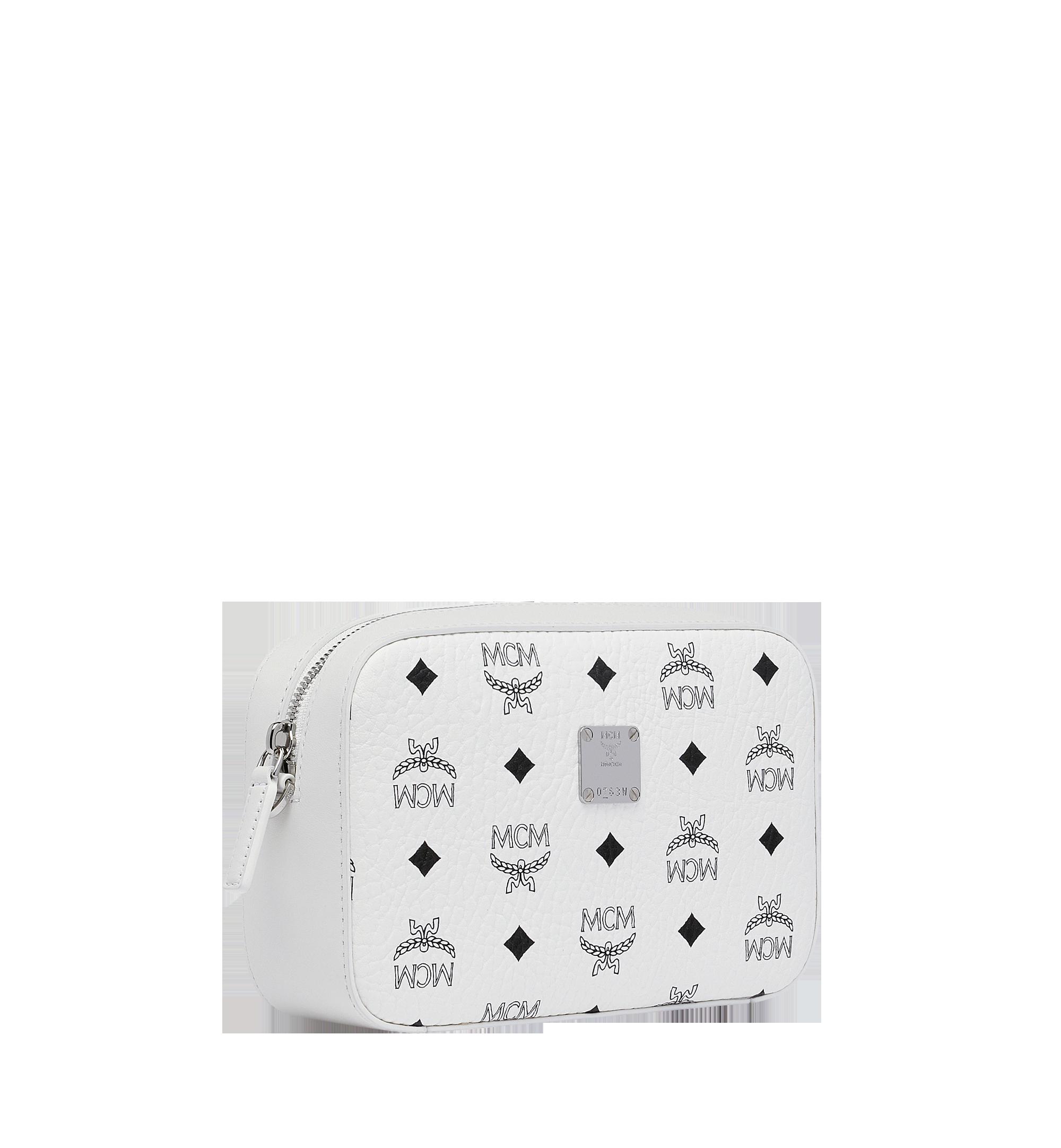 One Size Kameratasche in Visetos Original White | MCM® DE
