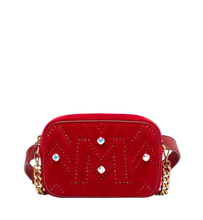 MCM Sac appareil photo en Velvet Crystal Studs Alternate View