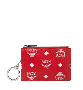 MCM Key Pouch in White Logo Visetos MYZ9SWA09AV001 AlternateView