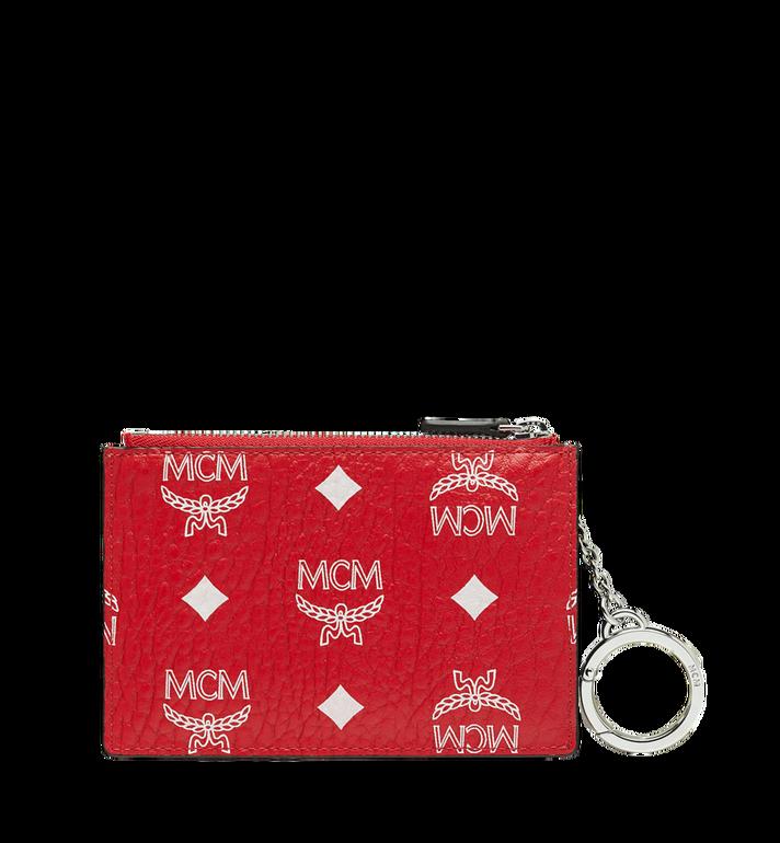 MCM Key Pouch in White Logo Visetos Red MYZ9SWA09AV001 Alternate View 3