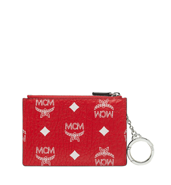 MCM Key Pouch in White Logo Visetos MYZ9SWA09AV001 AlternateView3