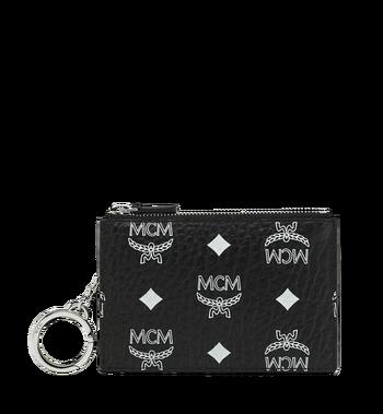 MCM Key Pouch in White Logo Visetos MYZ9SWA09BV001 AlternateView