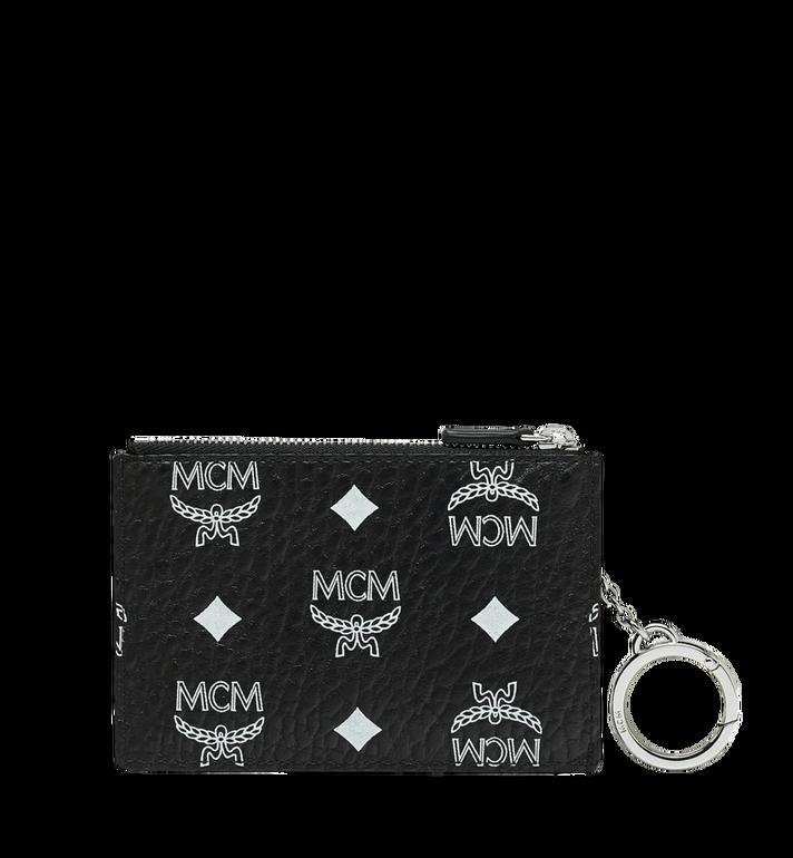 MCM Key Pouch in White Logo Visetos Black MYZ9SWA09BV001 Alternate View 3