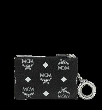 MCM Key Pouch in White Logo Visetos MYZ9SWA09BV001 AlternateView3