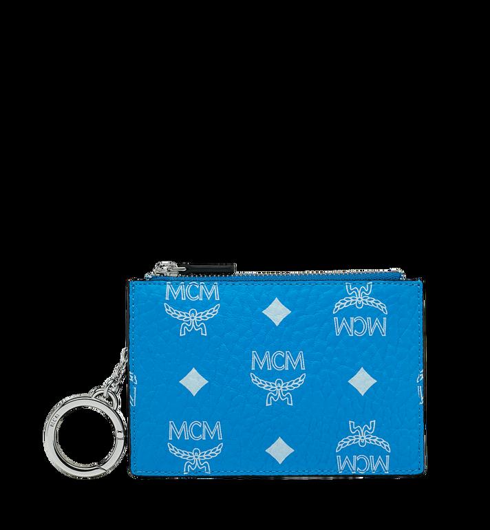 MCM Key Pouch in White Logo Visetos MYZ9SWA09HI001 AlternateView
