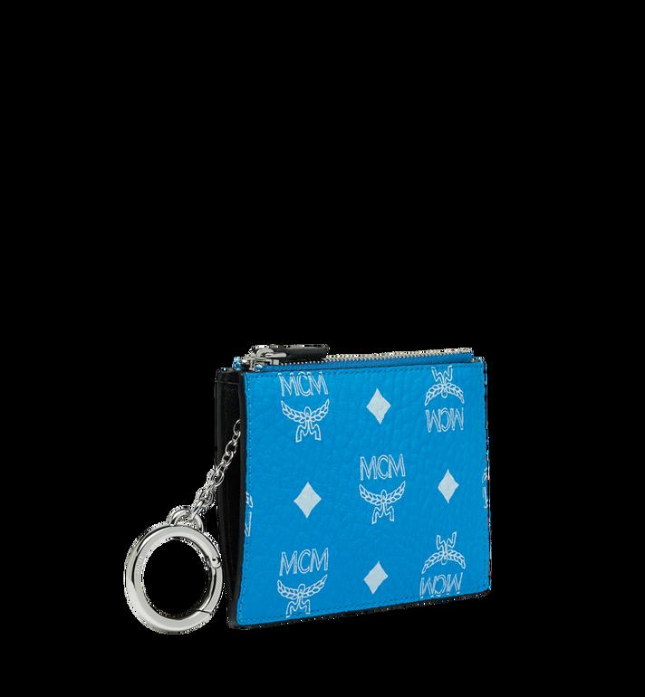 MCM Key Pouch in White Logo Visetos MYZ9SWA09HI001 AlternateView2