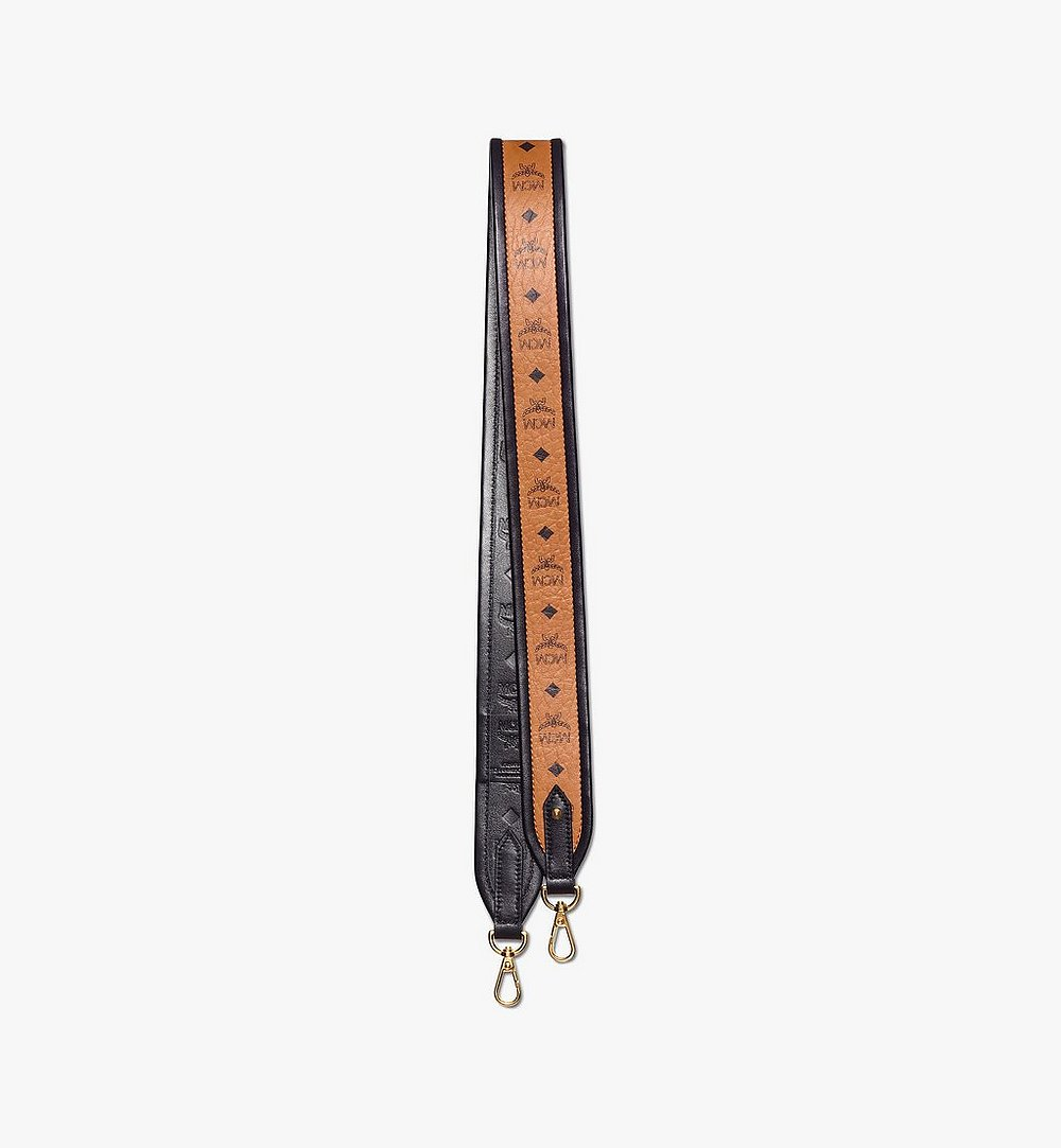 MCM MCM Collection Strap in Visetos Cognac MYZAAMM05CO001 Alternate View 1