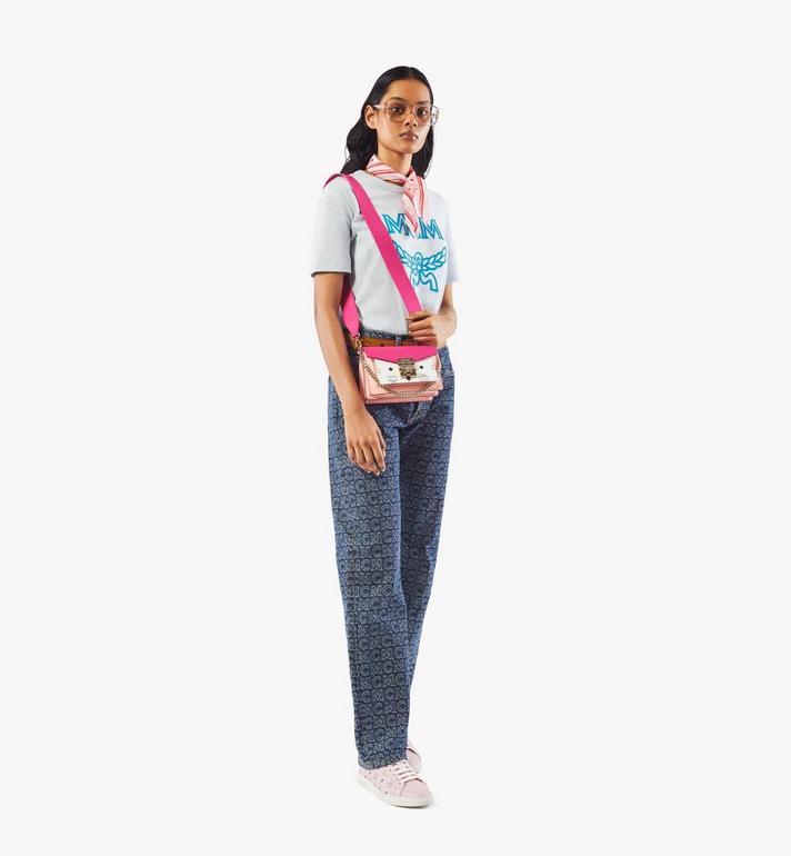 MCM MCM Collection Strap in Visetos Pink MYZAAMM05QH001 Alternate View 2