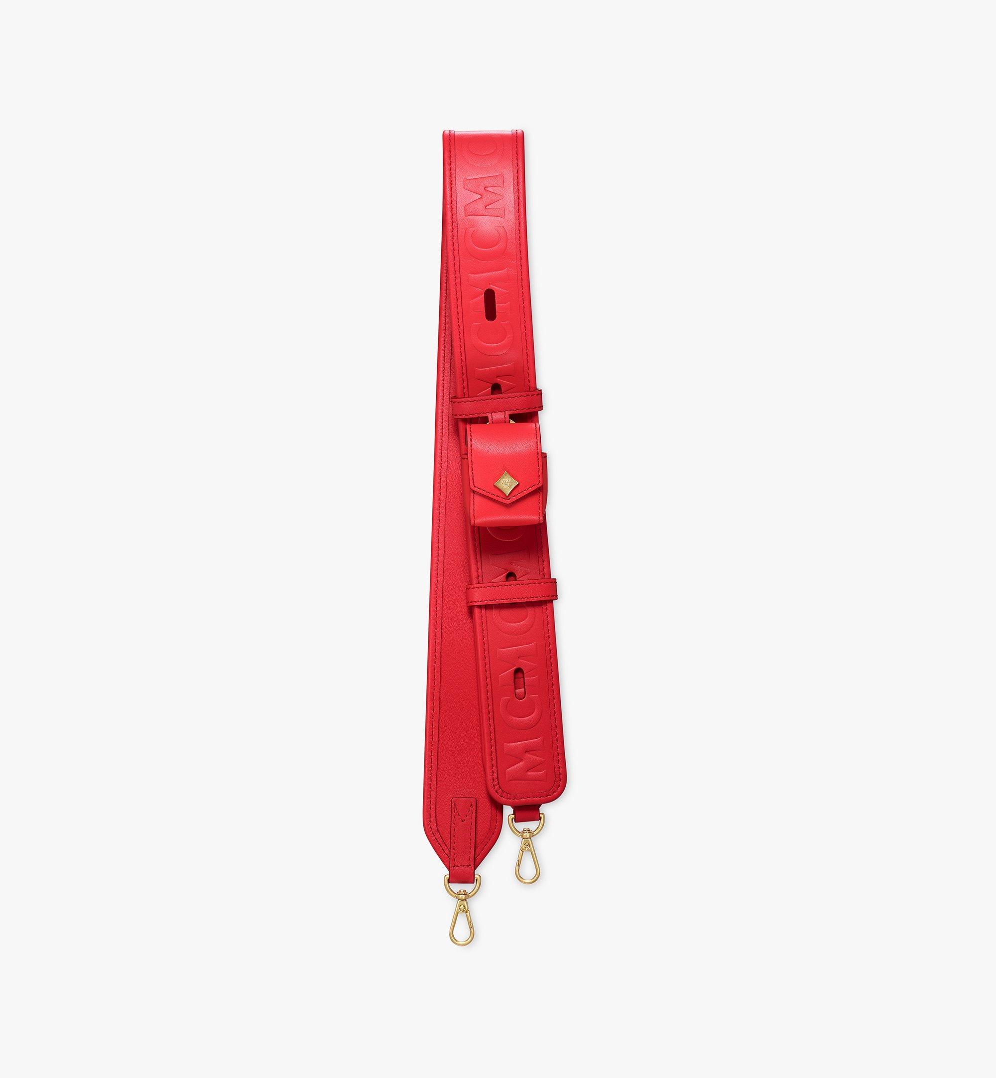 MCM MCM Collection Lederriemen mit Monogramm und AirPod Etui Red MYZAAMM06RP001 Noch mehr sehen 1