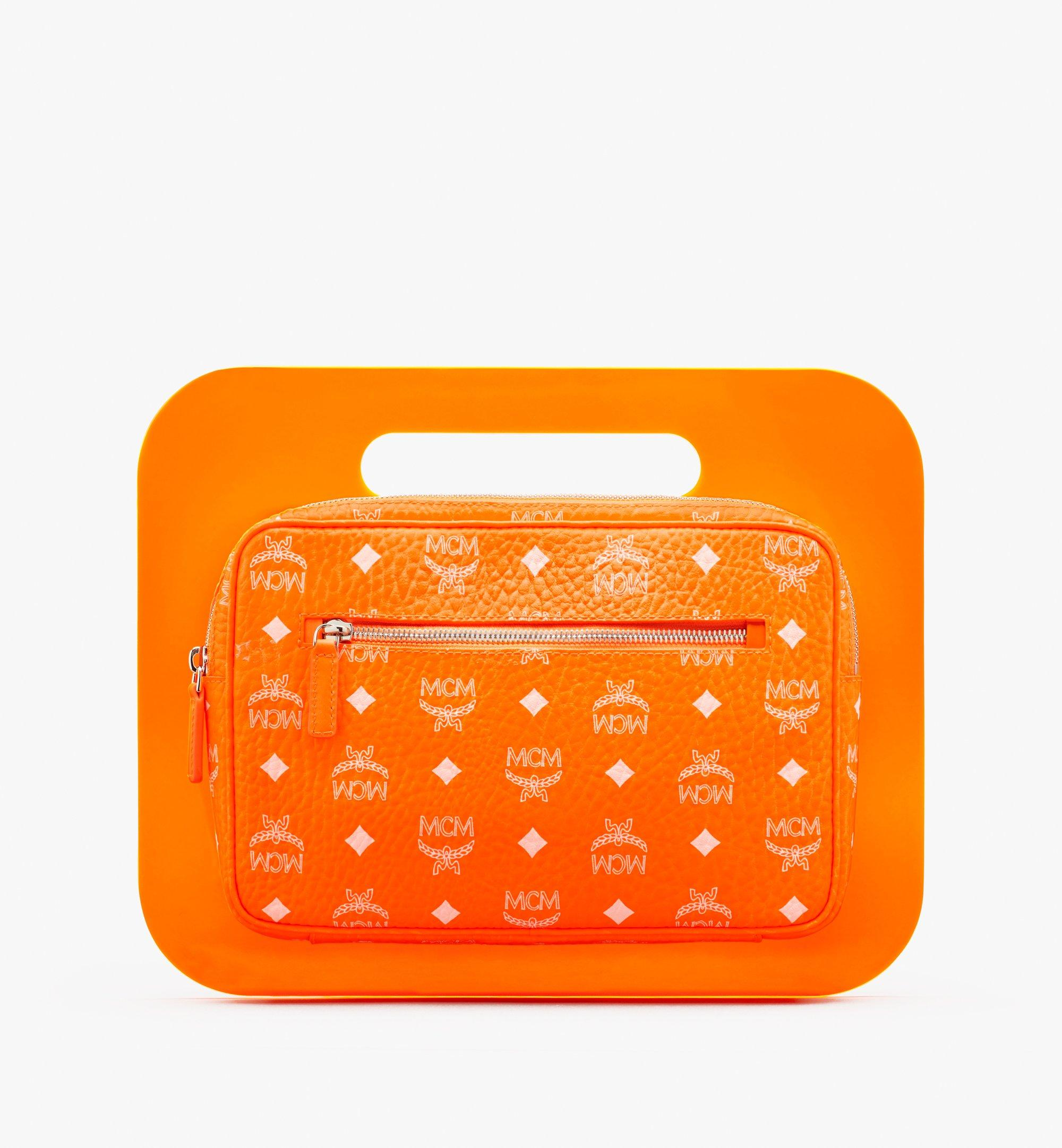 MCM 〈MCM by PHENOMENON〉アクリル ディスク バッグ - ヴィセトス Orange MYZASJP03OW001 ほかの角度から見る 1