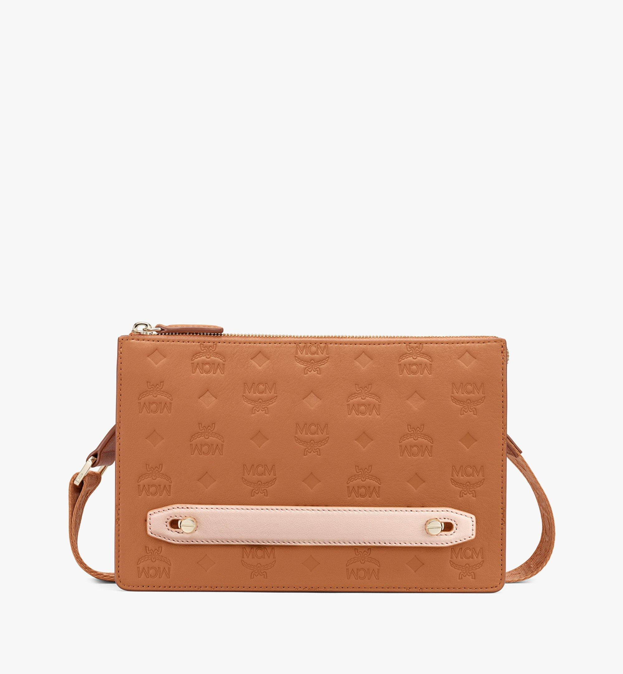 Mcm Klara Crossbody Pouch in Monogram Leather
