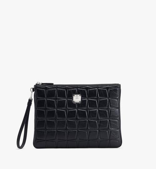 Patricia Wristlet Pouch in Quilted Leather