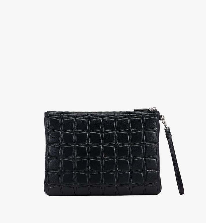 MCM Patricia Wristlet Pouch in Quilted Leather Black MYZASPA01BK001 Alternate View 2
