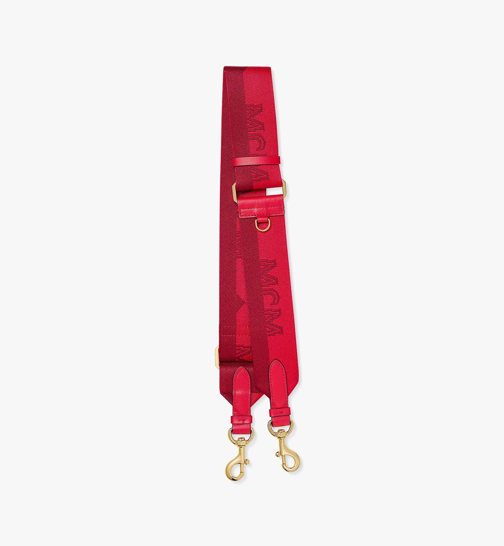 MCM Jacquard-Schulterriemen mit gewebtem Halblogo Red MYZBAMM03R0001 Noch mehr sehen 1
