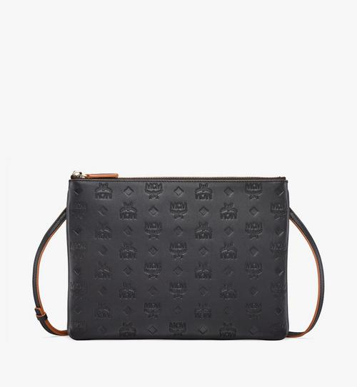 Klara Crossbody Pouch in Monogram Leather