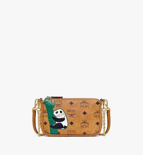 MCM Zoo Crossbody-Tasche mit Pandamotiv in Visetos