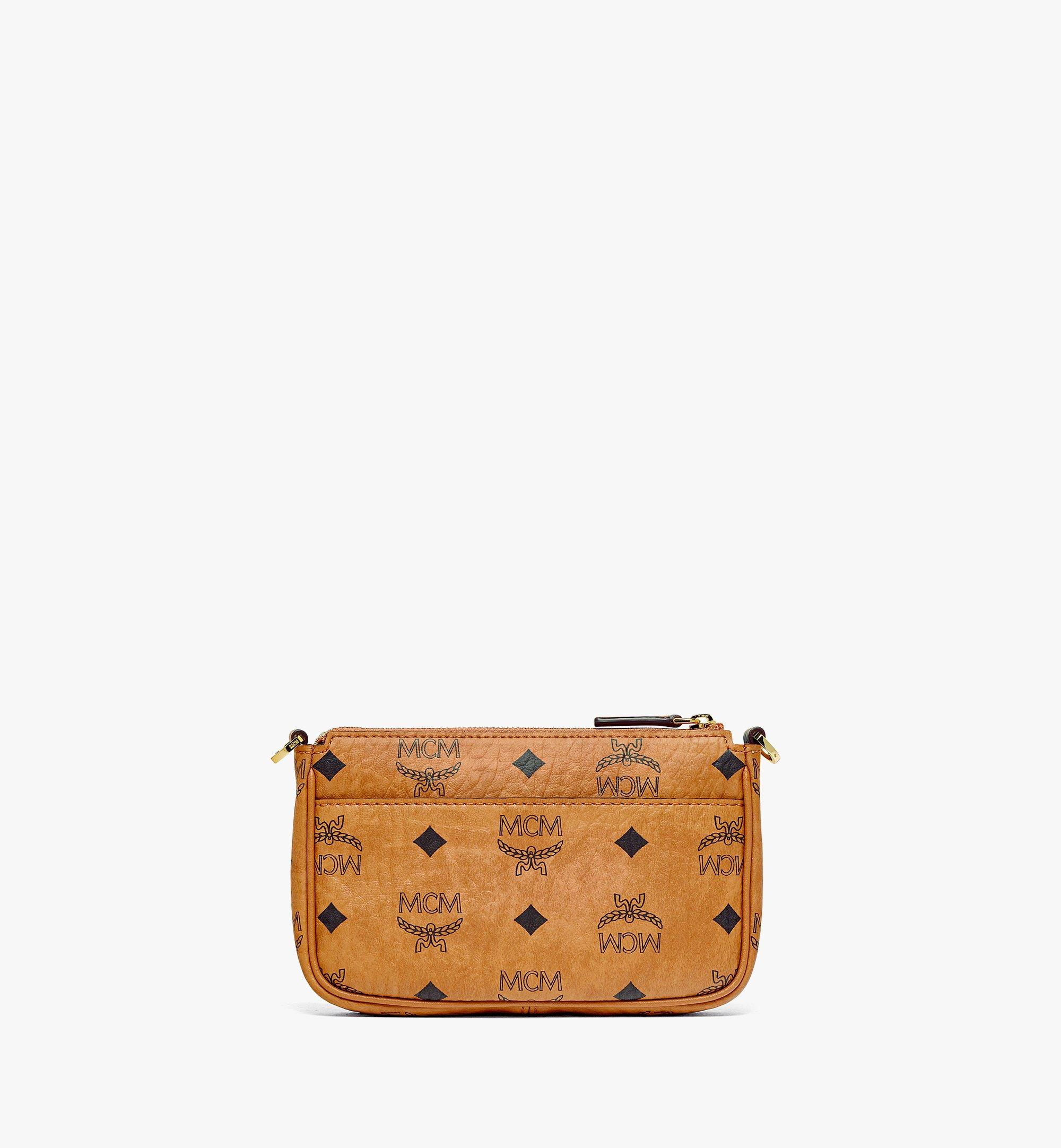MCM MCM Zoo Parrot Crossbody Pouch in Visetos Cognac MYZBSXL02CO001 Alternate View 3