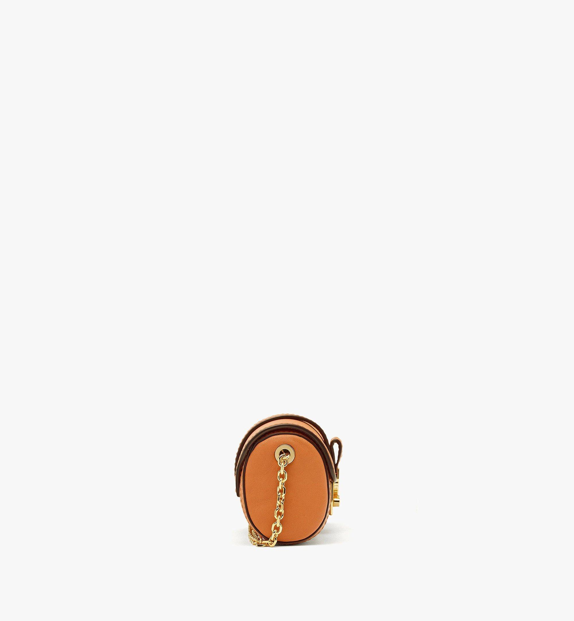 MCM Tracy Cylinder Bag in Visetos Cognac MYZBSXT01CO001 Alternate View 1