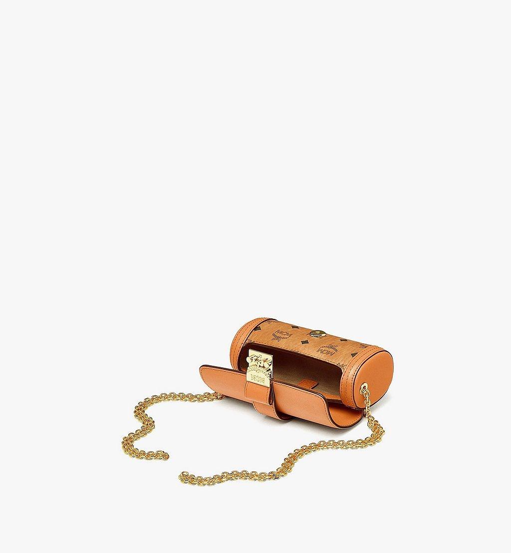 MCM Tracy Zylinderförmige Tasche in Visetos Cognac MYZBSXT01CO001 Noch mehr sehen 2