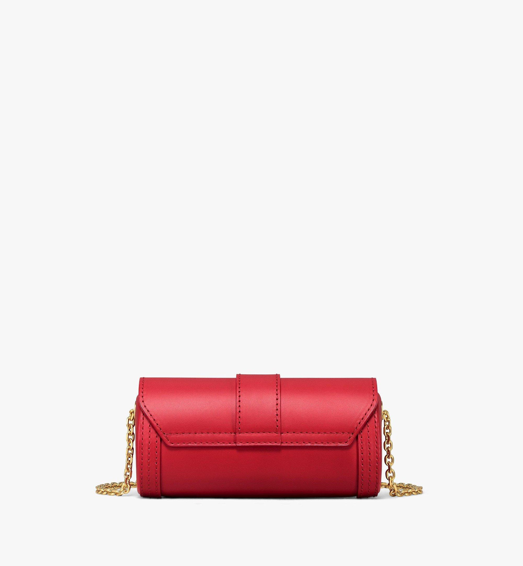 MCM Tracy Cylinder Bag in Vachetta Leather Red MYZBSXT02RU001 Alternate View 3