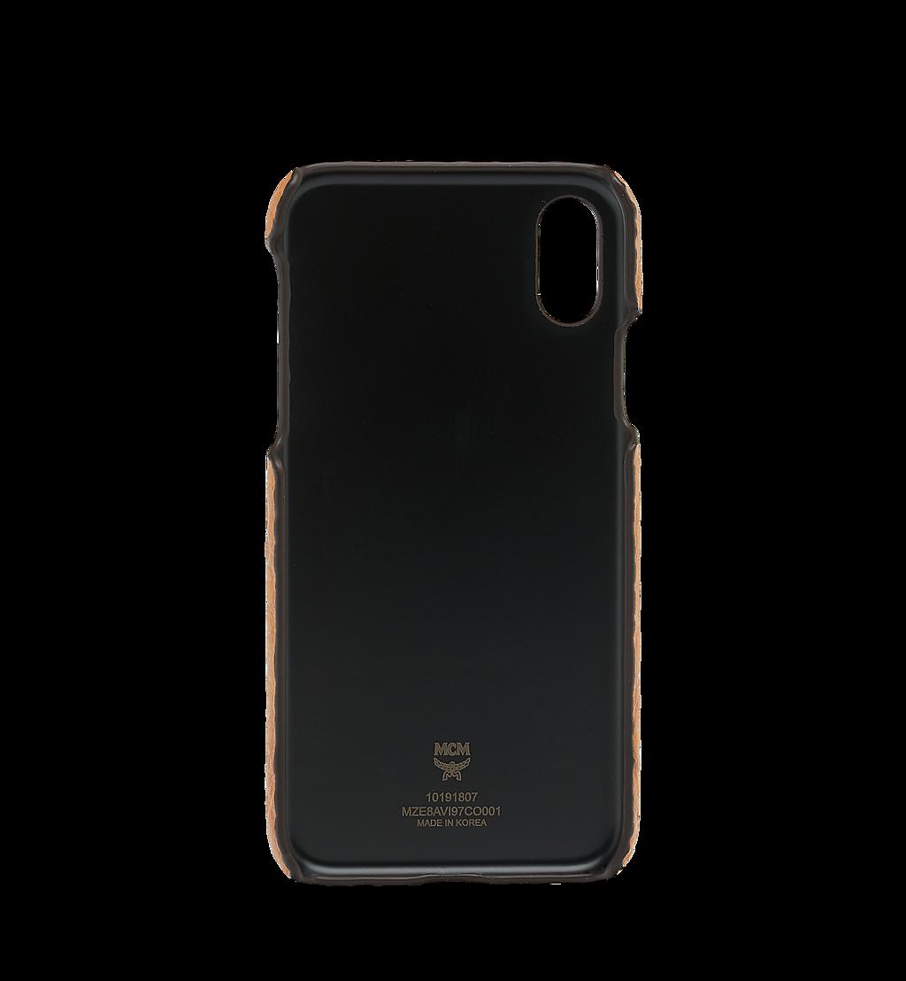 MCM iPhone X Case in Visetos Original Cognac MZE8AVI97CO001 Alternate View 2