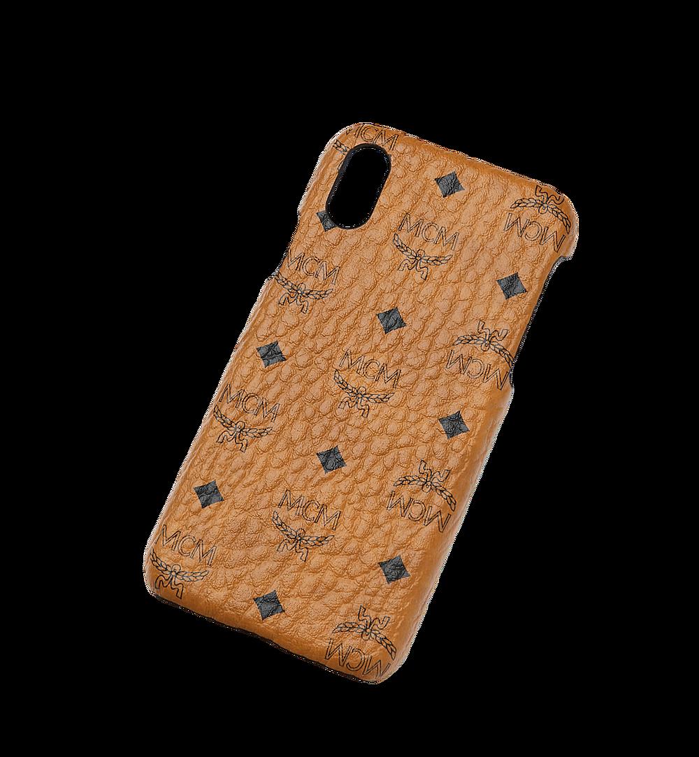 MCM iPhone X Case in Visetos Original Cognac MZE8AVI97CO001 Alternate View 3