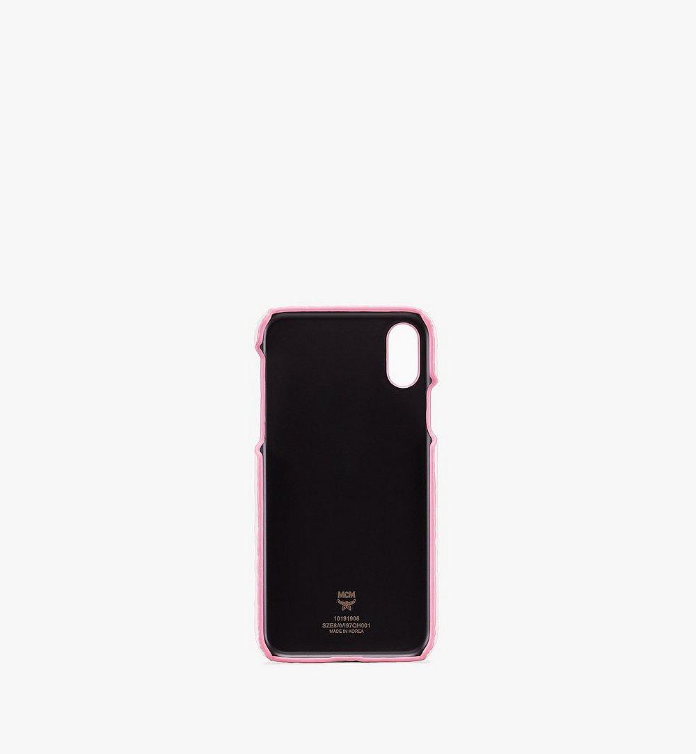 MCM iPhone X/XS Case in Visetos Pink MZE8AVI97QH001 Alternate View 1