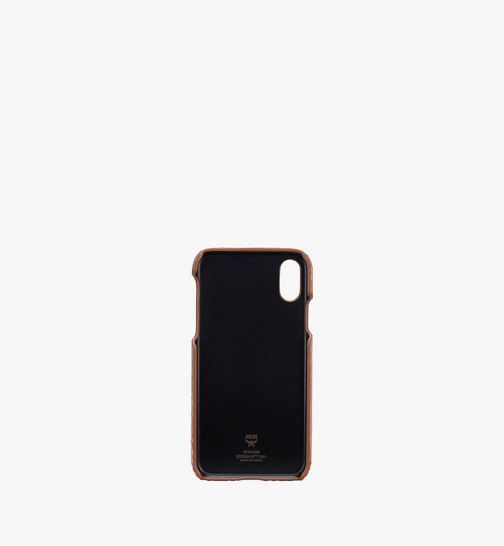 MCM iPhone X/XS Case in Visetos Gold MZE8AVI97T1001 Alternate View 1