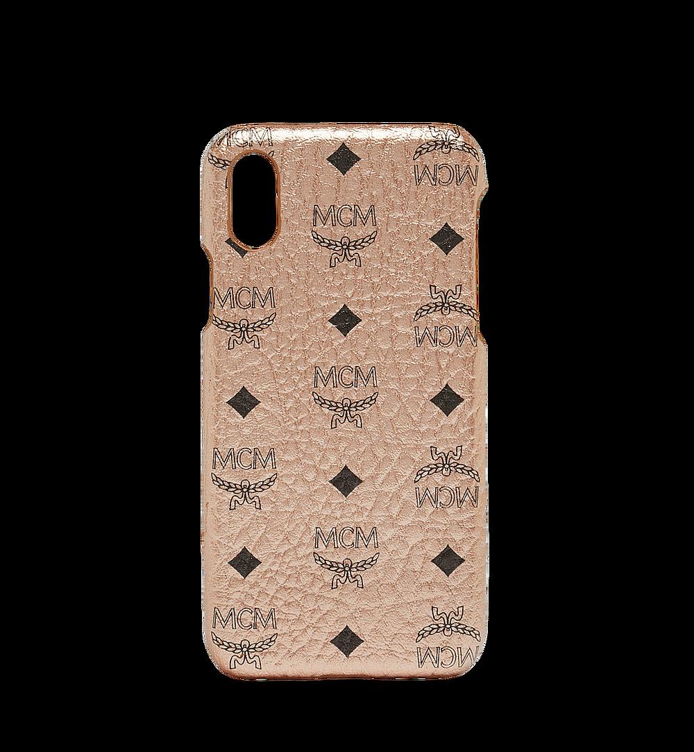 MCM iPhone X Case in Visetos Original Gold MZE8AVI97TC001 Alternate View 1