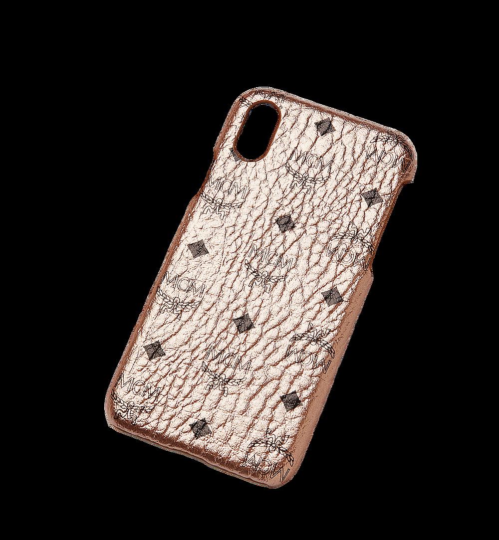 MCM iPhone X Case in Visetos Original Gold MZE8AVI97TC001 Alternate View 3