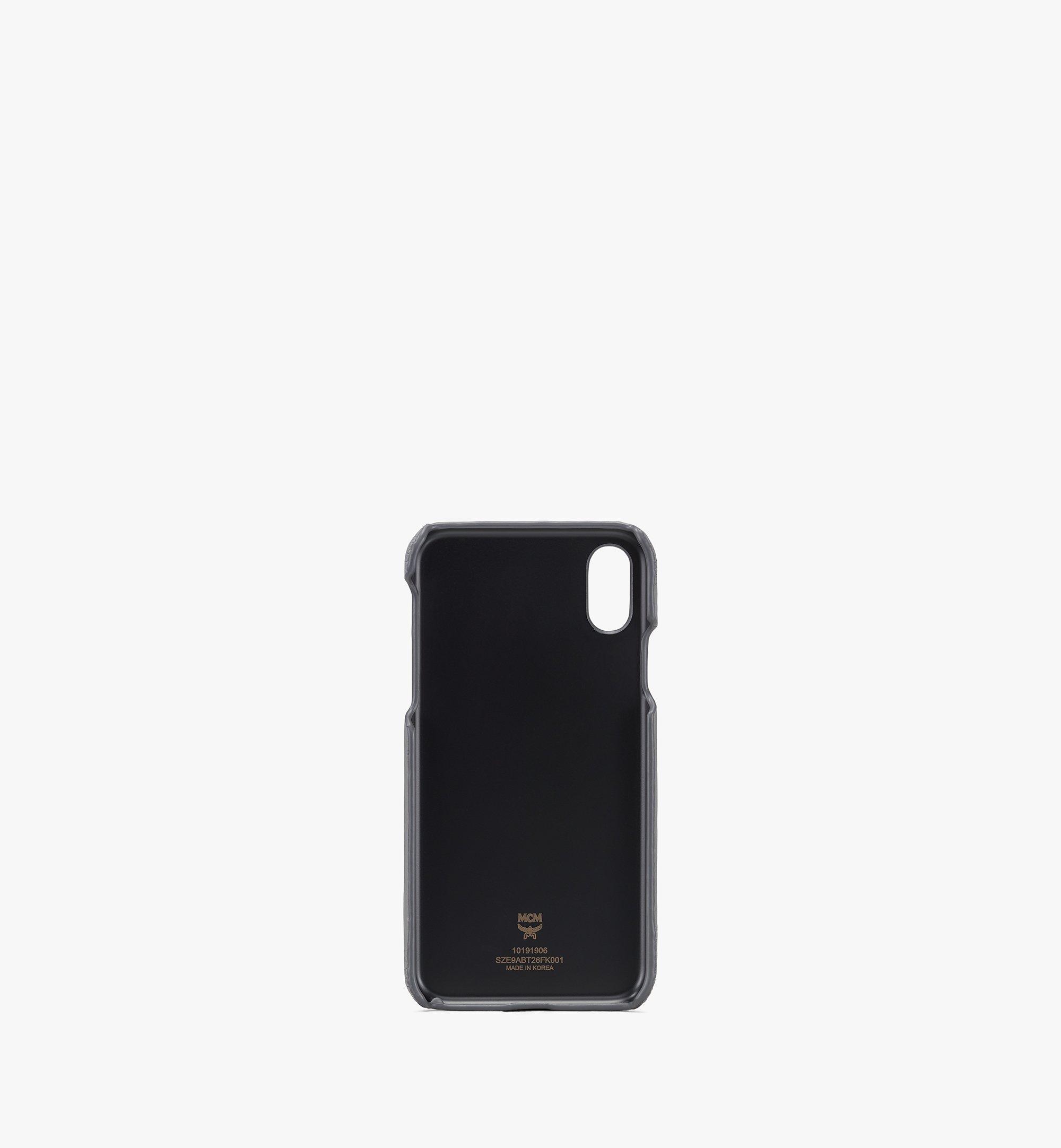 MCM Tivitat iPhone X/XS Case in Monogram Leather Grey MZE9ABT26FK001 Alternate View 2
