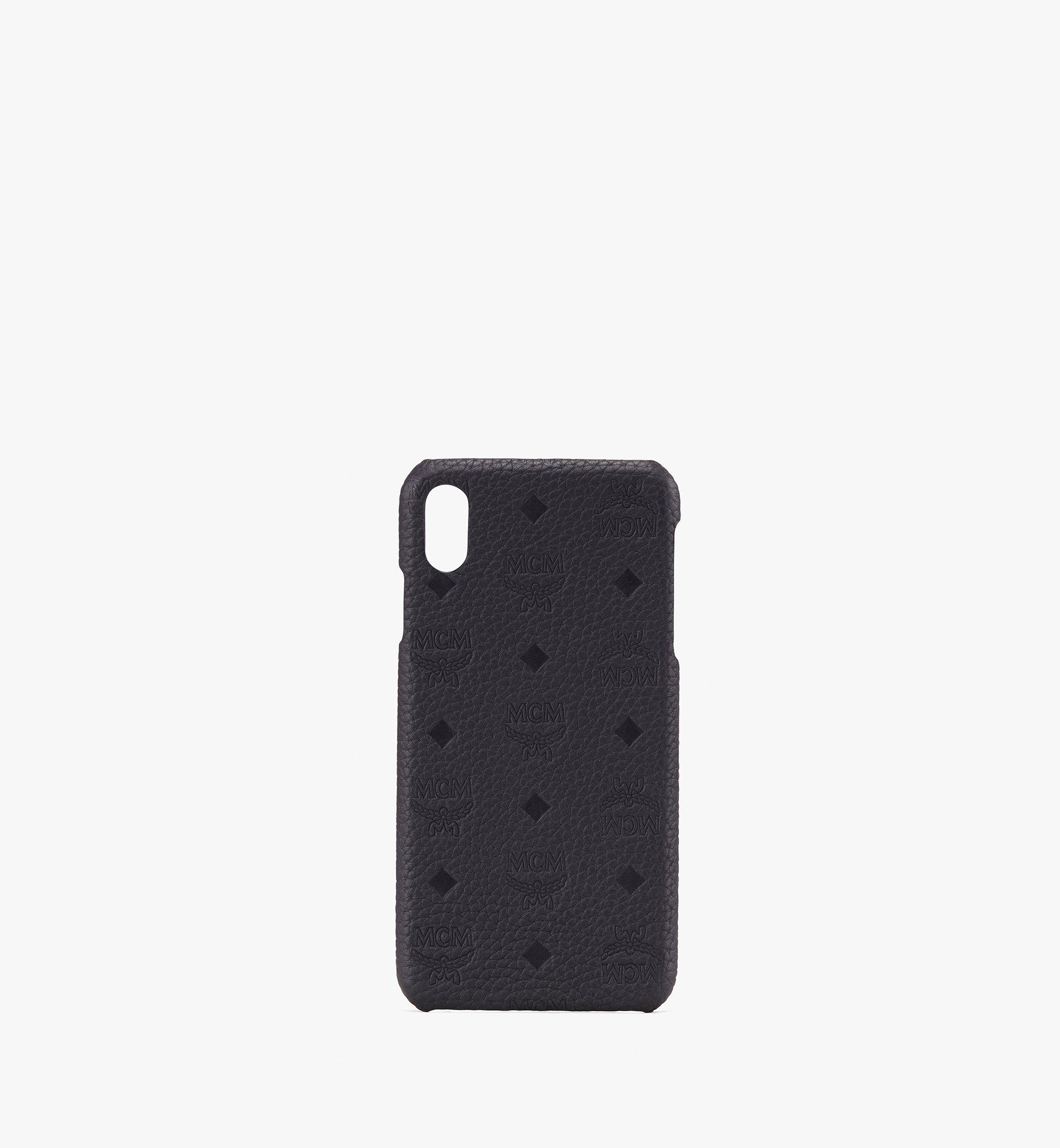 MCM iPhone XS Max ケース ティヴィタット レザー Black MZE9ABT30BK001 Alternate View 1
