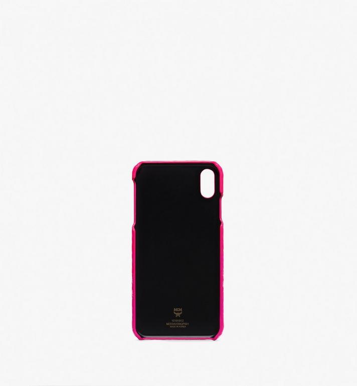 MCM iPhone XS Max Case in Visetos Pink MZE9AVI39QP001 Alternate View 2