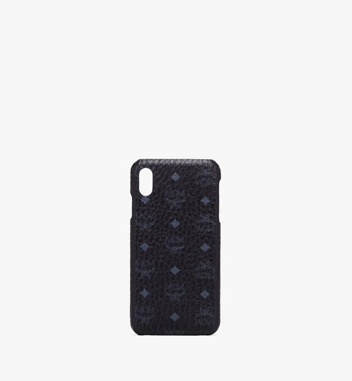 MCM iPhone XS Max Case in Visetos Black MZE9AVI98BK001 Alternate View 1