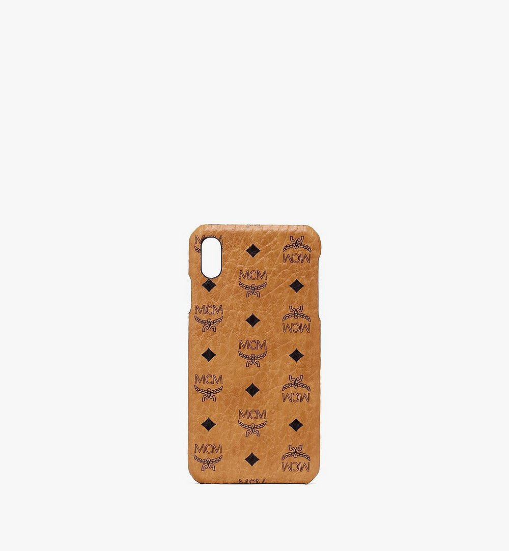 MCM iPhone XS Max Case in Visetos Cognac MZE9AVI98CO001 Alternate View 1