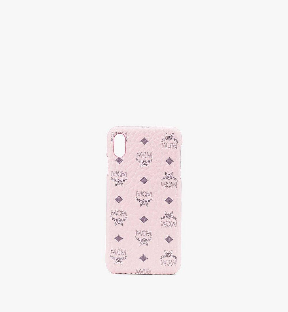 MCM iPhone XS Max Case in Visetos Pink MZE9AVI98QH001 Alternate View 1