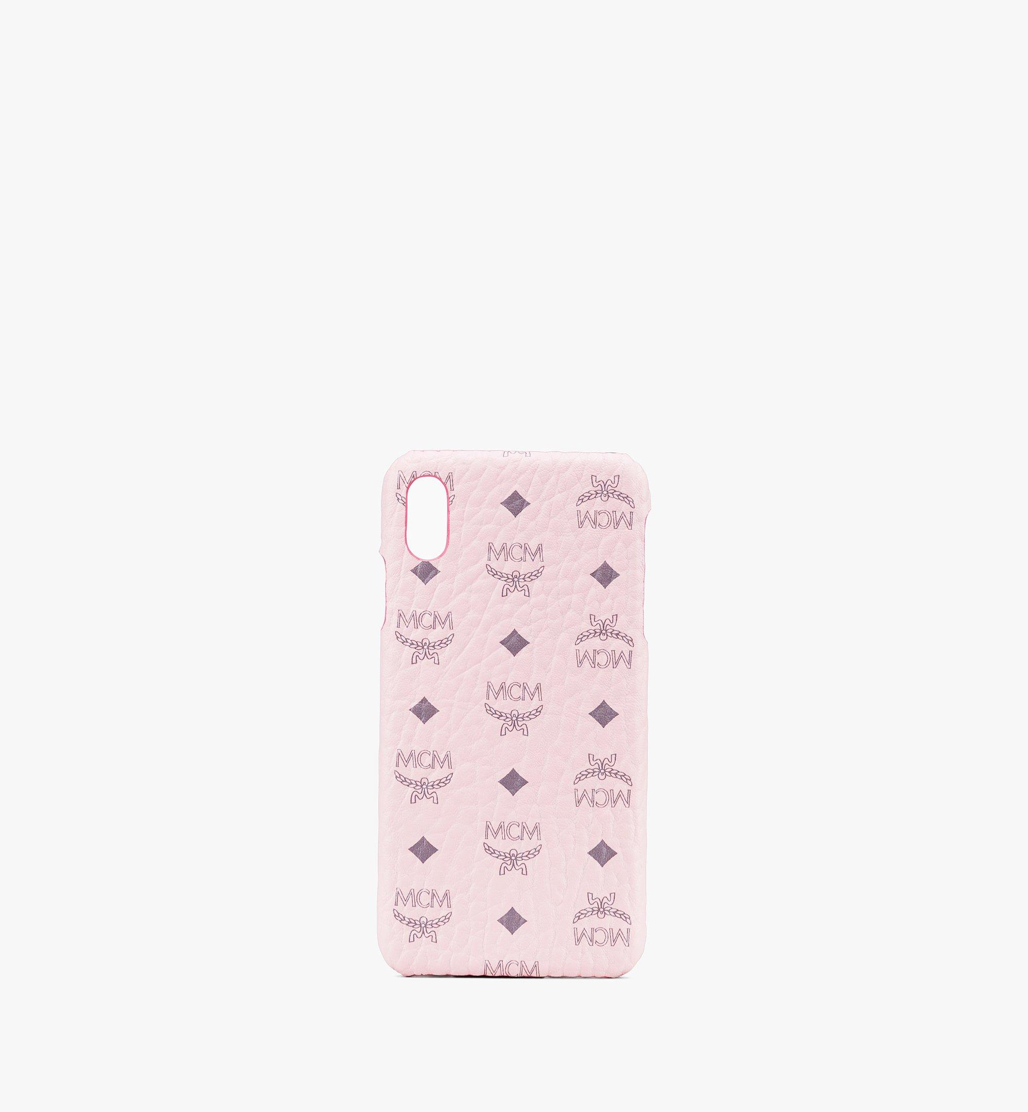 MCM iPhone XS Max Case in Visetos Pink MZE9AVI98QH001 Alternate View 1
