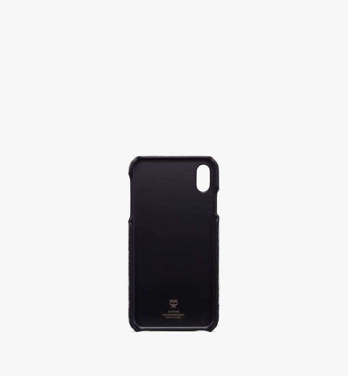 MCM iPhone XS Max Case in Visetos Silver MZE9AVI98SB001 Alternate View 2
