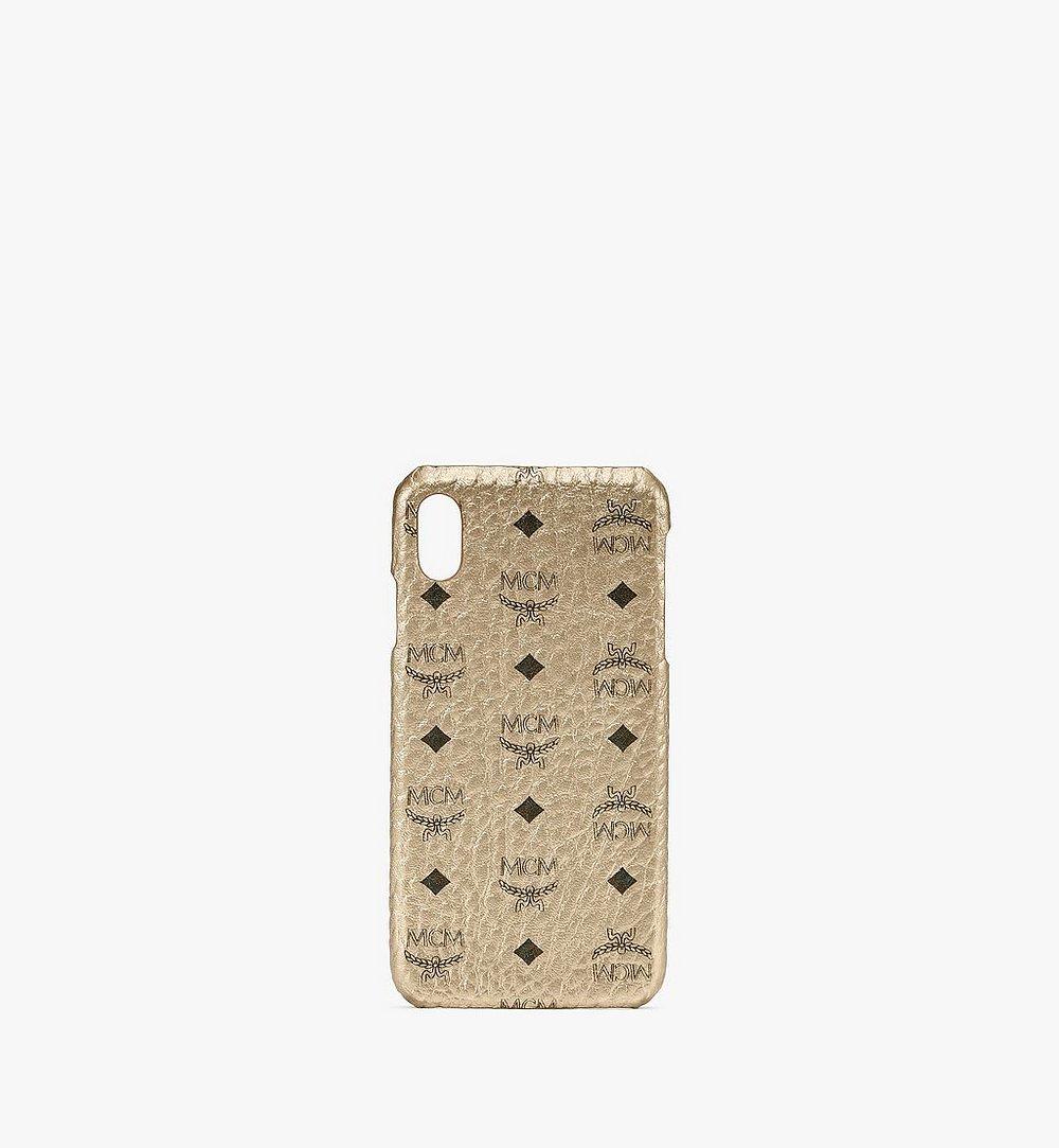 MCM iPhone XS Max Case in Visetos Gold MZE9AVI98T1001 Alternate View 1