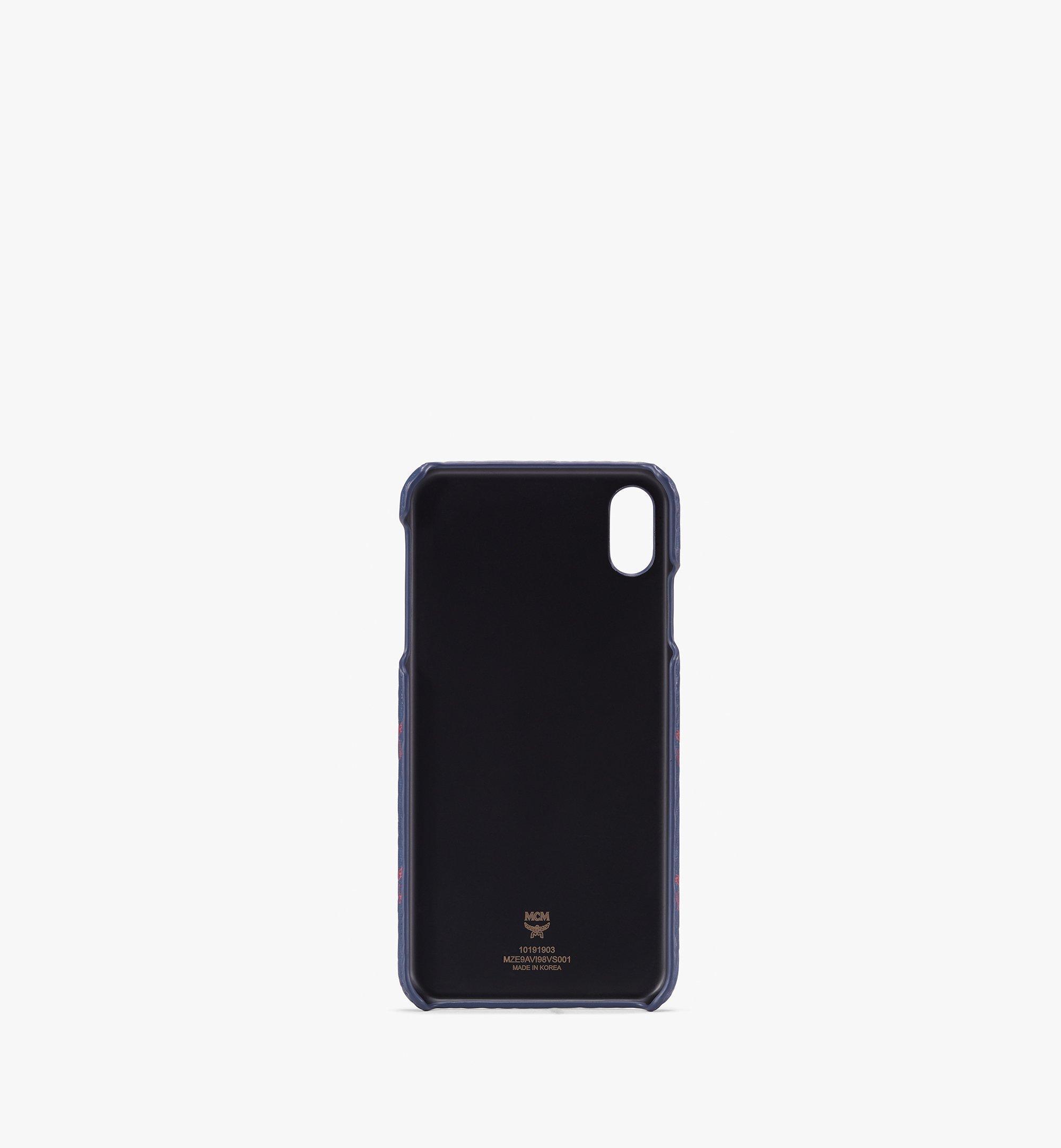 MCM iPhone XS Max Case in Visetos Blue MZE9AVI98VS001 Alternate View 1